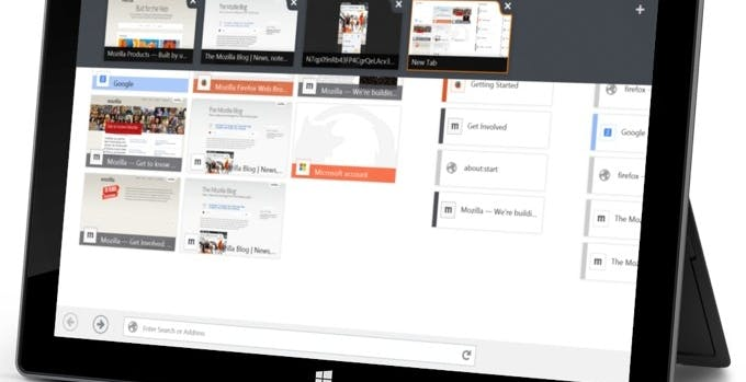 Firefox per Windows 8 diventa touch