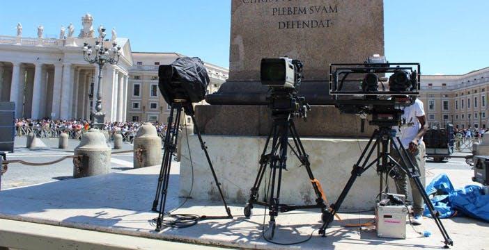 Canonizzazione dei due Papi: riprese in 3D ma anche in 4K