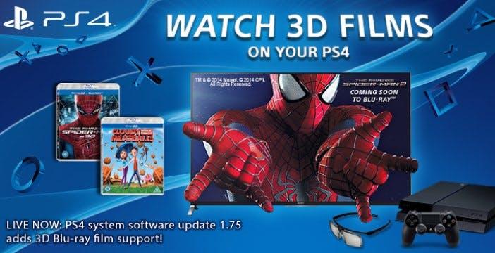 La PS4 ora legge anche i Blu-ray 3D