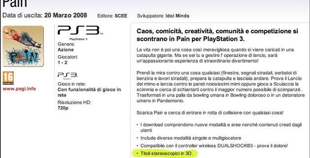 Sony: scatta oggi l'operazione 3D