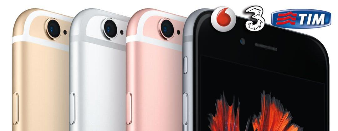 iPhone 6S e 6S Plus con TIM, Tre e Vodafone: le offerte degli operatori