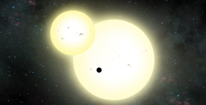 Scoperto il più grande pianeta che orbita attorno a due soli