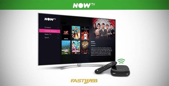 Fastweb e Sky sempre più vicine: i contenuti di Now TV insieme a Internet e telefono