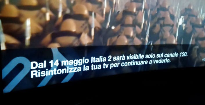 Italia 2 non muore e trasloca sul 120. Al 35 arriva Focus targato Mediaset