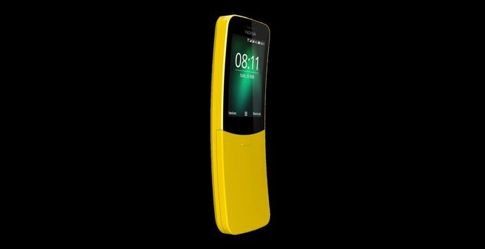 Il Nokia 8110 nei negozi da oggi. La banana gialla versione 4G  costa 89 euro
