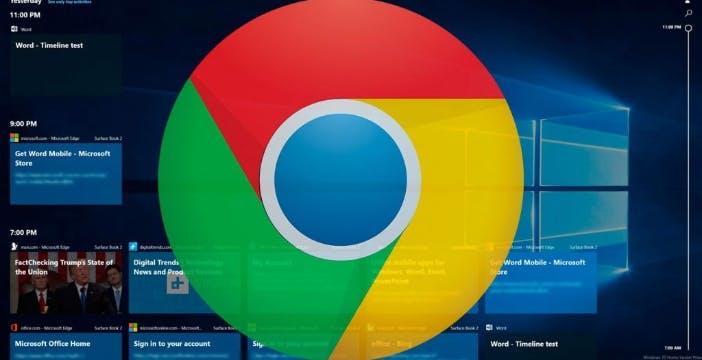 Chrome nella Timeline di Windows, c'è l'estensione ufficiale Microsoft