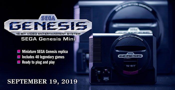 SEGA si unisce al coro: svelato Mega Drive Mini con 40 giochi inclusi