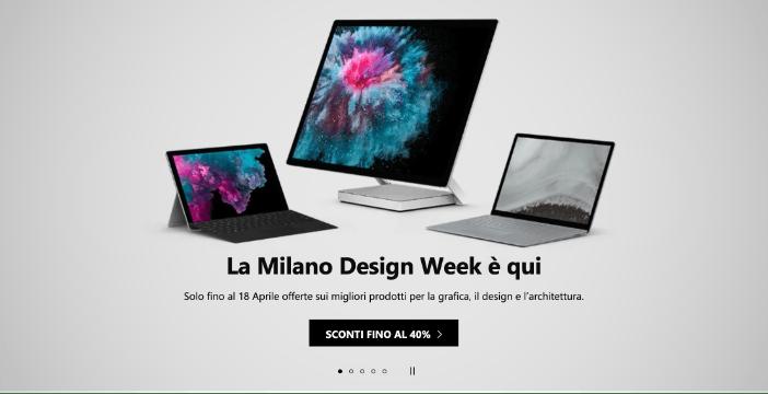 Per la Milano Design Week Surface Book 2 costa fino a 600 euro in meno