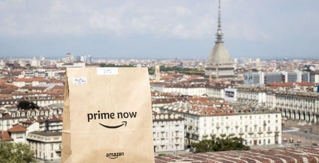 Amazon Prime Now arriva anche a Torino. Servizio attivo anche nell'hinterland