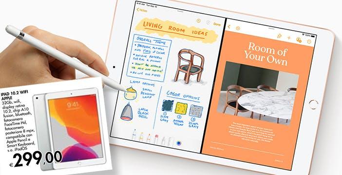 L'iPad a 299 euro è una super offerta per chi ha bisogno di un tablet. Da ieri alla Bennet