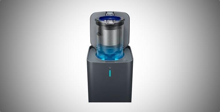 Samsung CleanStation svuota il serbatoio della scopa elettrica senza dispersione di polvere