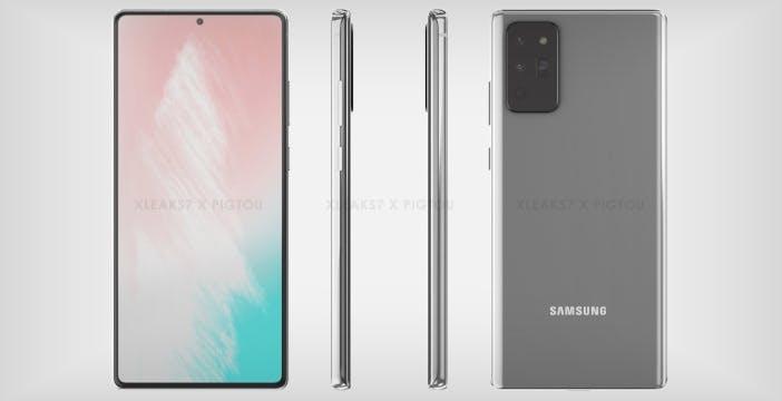 Il Samsung Galaxy Note 20 potrebbe prendere molto dalla gamma S20. Ecco le prime immagini