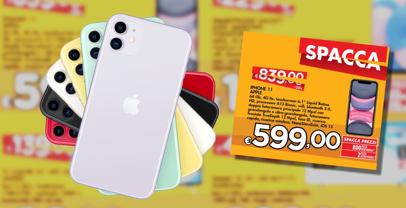 iPhone 11 super scontato alla Bennet: fino al 10 giugno costa 599 euro