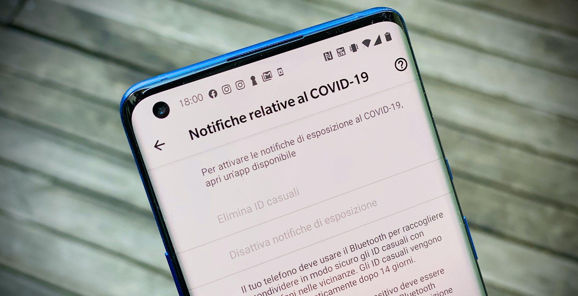 Aiuto, Google ha installato il Covid Tracker sul mio smartphone