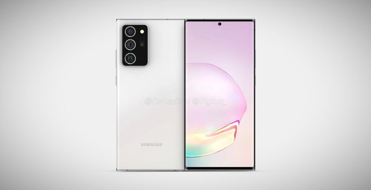 Galaxy Note 20, design spinto all'estremo e niente batteria gigante