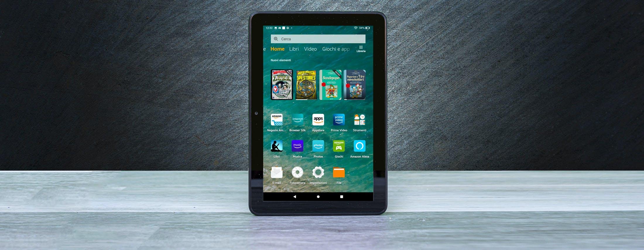 Recensione Amazon Fire HD 8 2020. Il tablet da 99 euro perfetto per i bambini