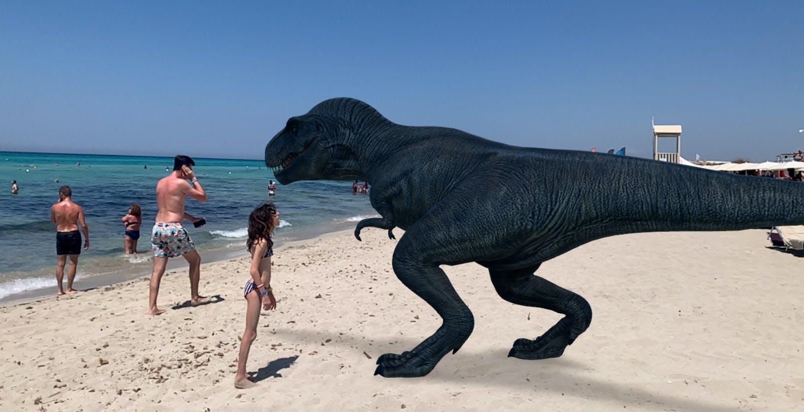 Lo scherzo dell'estate è mettere un dinosauro in spiaggia. Con Google Search per Android e iOS ora si può