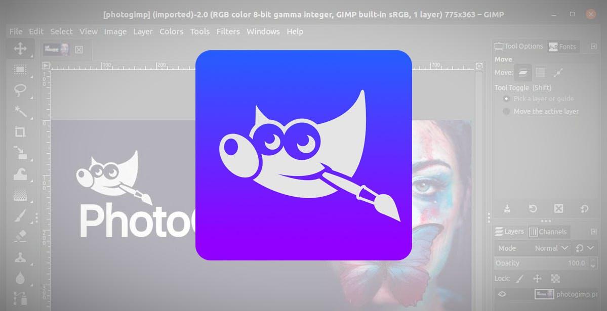 PhotoGIMP, fotoritocco facile e gratuito su Linux: l'interfaccia è presa da Photoshop