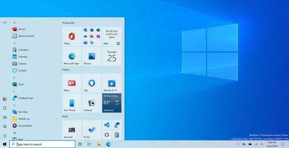 Windows 10 si rifà il look. Ecco il nuovo menu Start