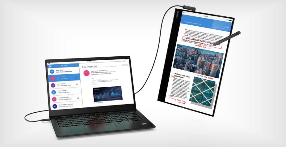 """Un monitor portatile touch da 14"""": ecco ThinkVision M14t di Lenovo"""