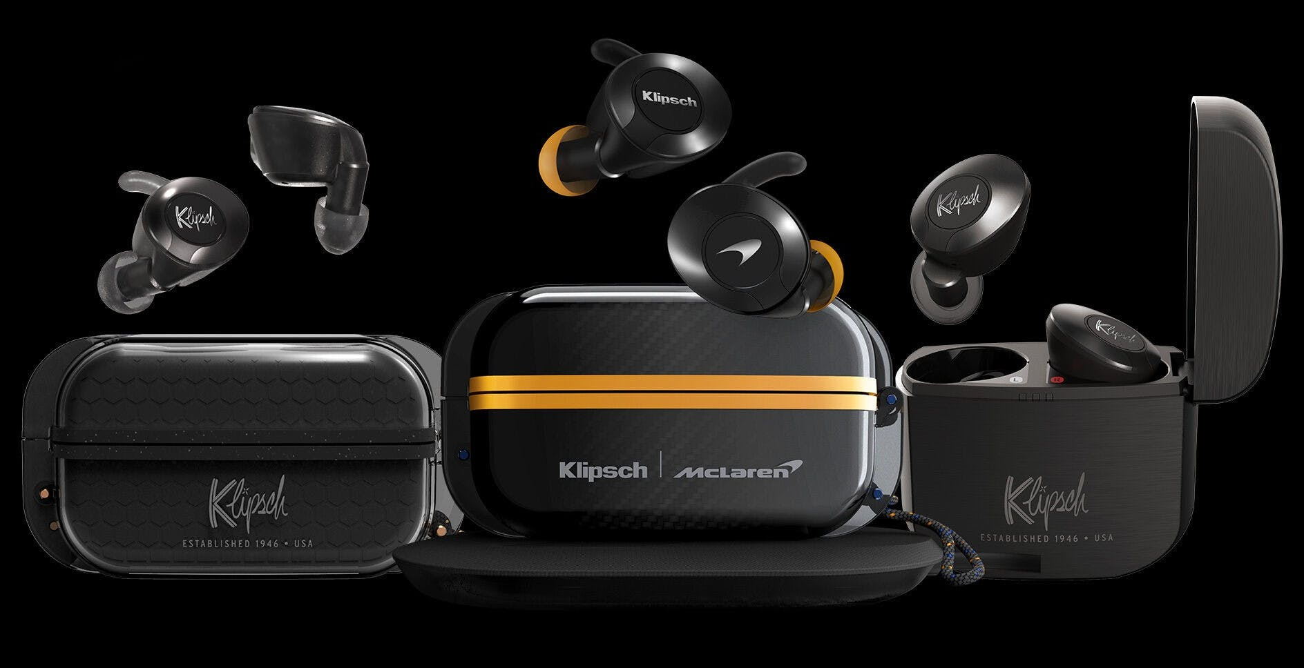 Cuffie, diffusori e auricolari wireless a marchio McLaren: accordo con Klipsch