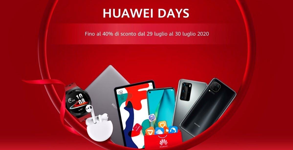Due giorni di sconti sullo store Huawei: il 29 e 30 luglio si risparmia fino al 40%