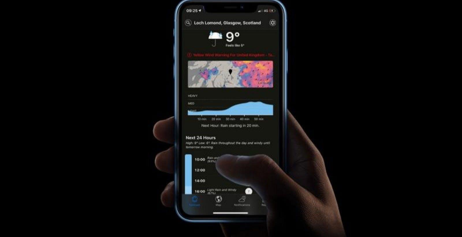 Apple cala il sipario sulla versione Android dell'app meteo Dark Sky