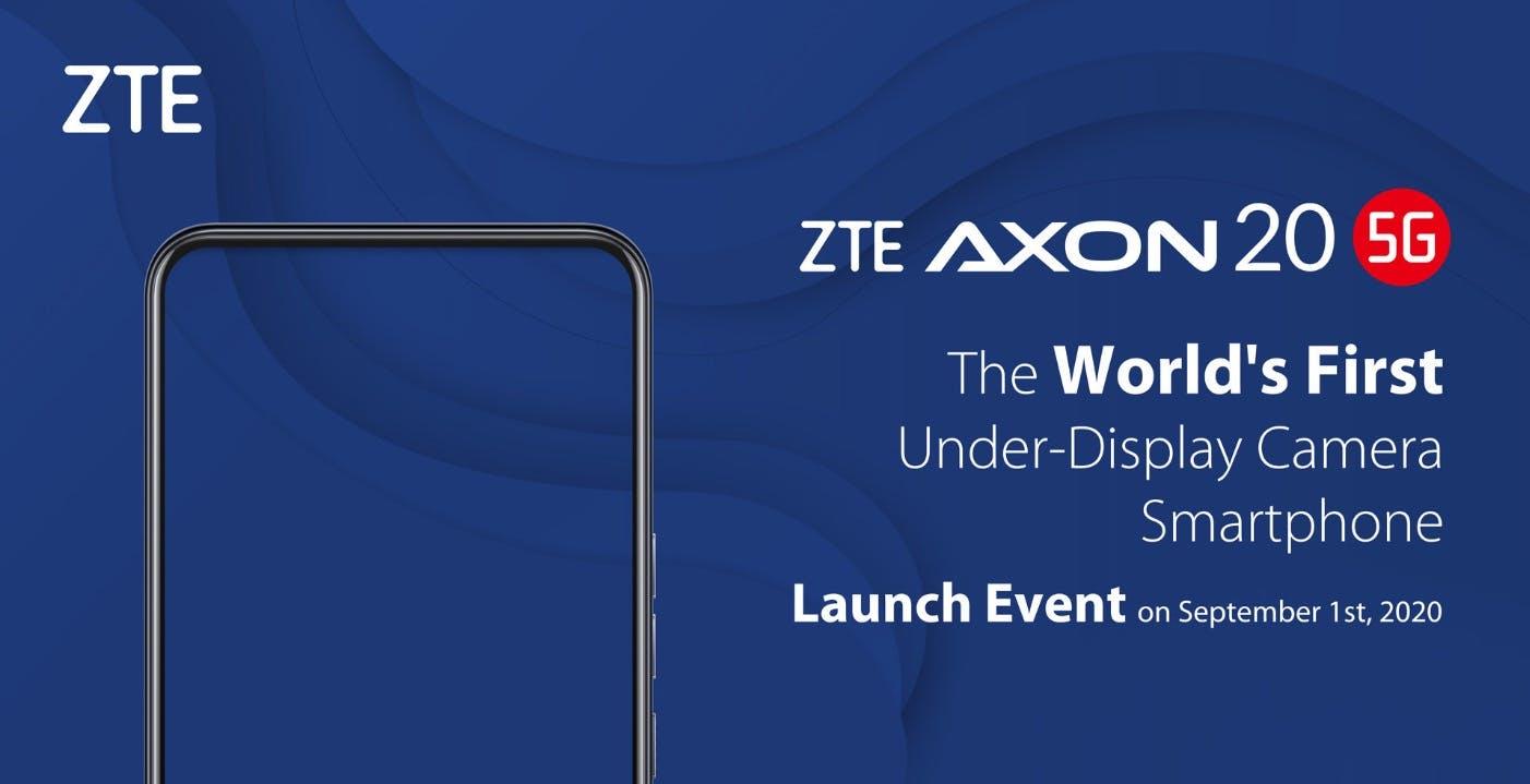 ZTE Axon 20 5G sarà il primo smartphone con fotocamera sotto al display
