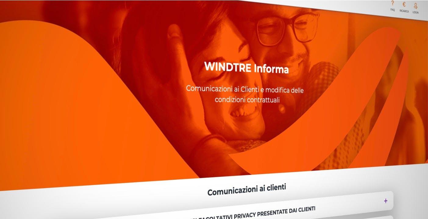 Wind Tre: dal 23 settembre costo fisso di 4 euro per alcuni piani a consumo