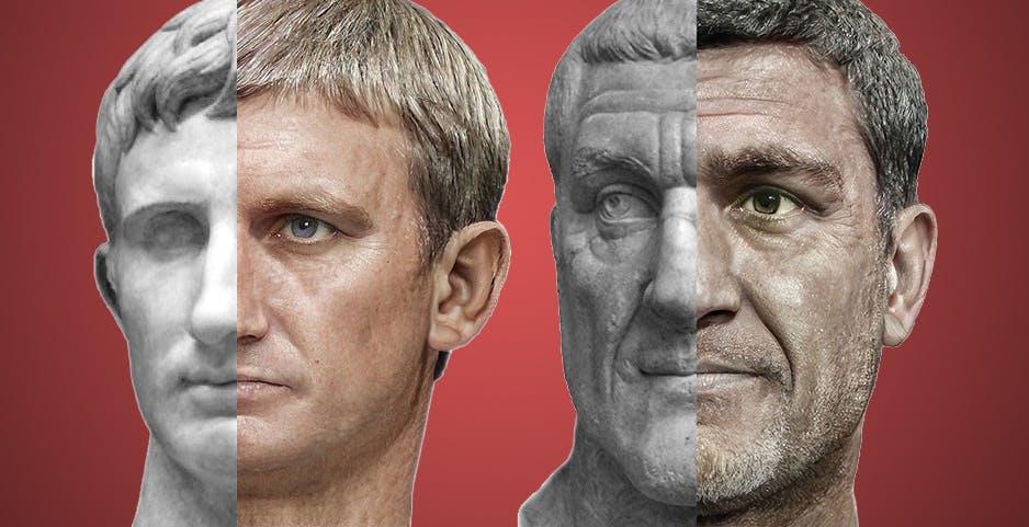 Dalle statue alle foto: così l'intelligenza artificiale ha ricostruito il volto degli imperatori romani