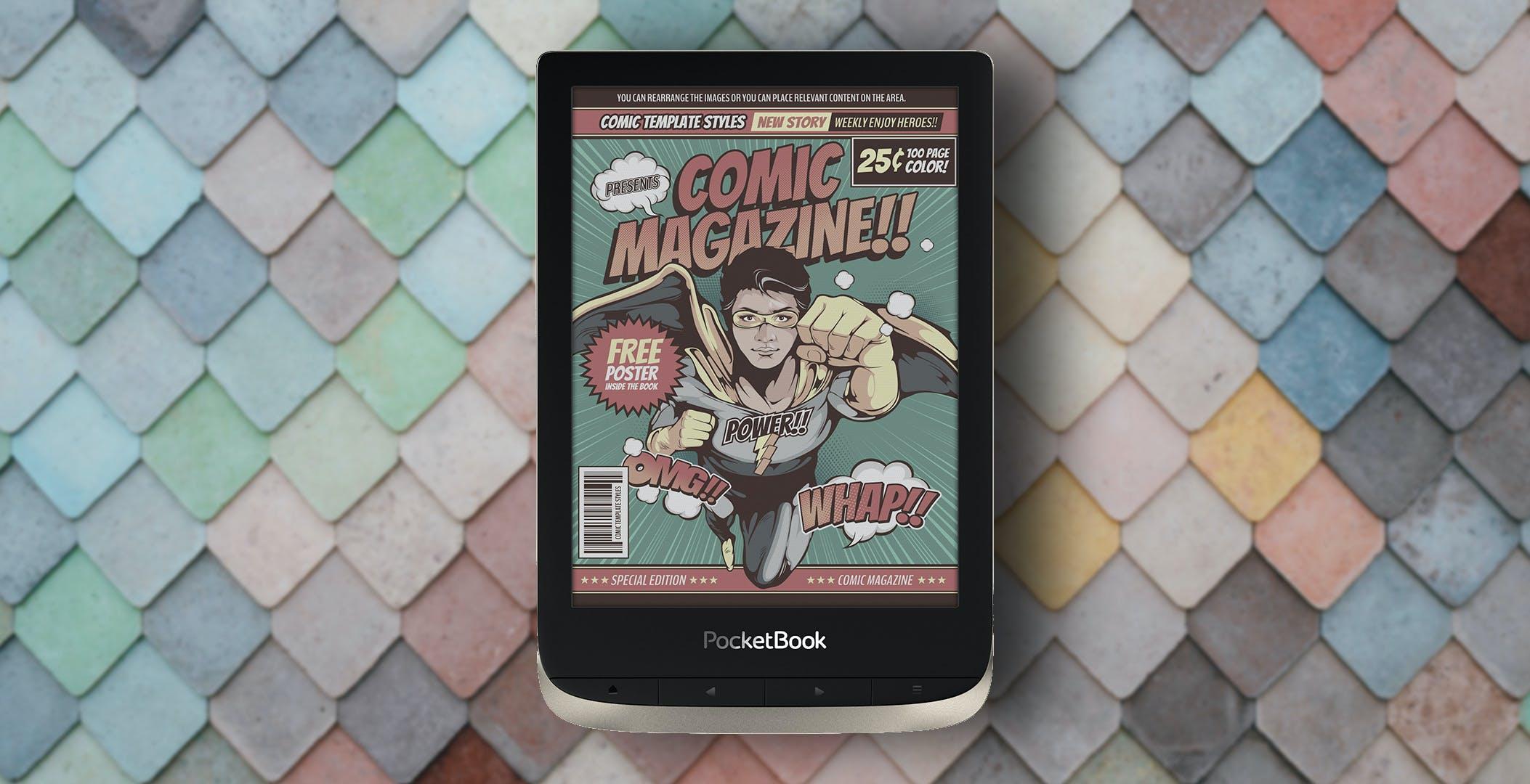 PocketBook Color è l'eBook perfetto per i fumetti. Per leggere a colori servono 199 euro