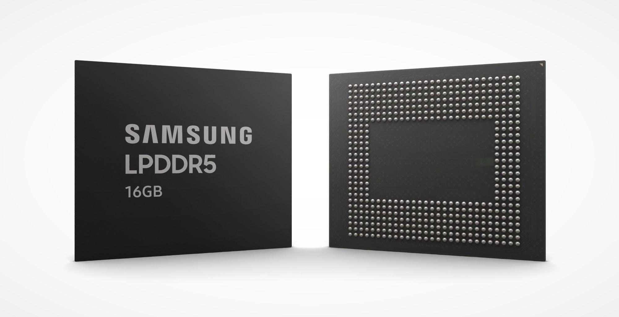 Samsung, pronte le prime memorie LPDDR5 da 16 Gb