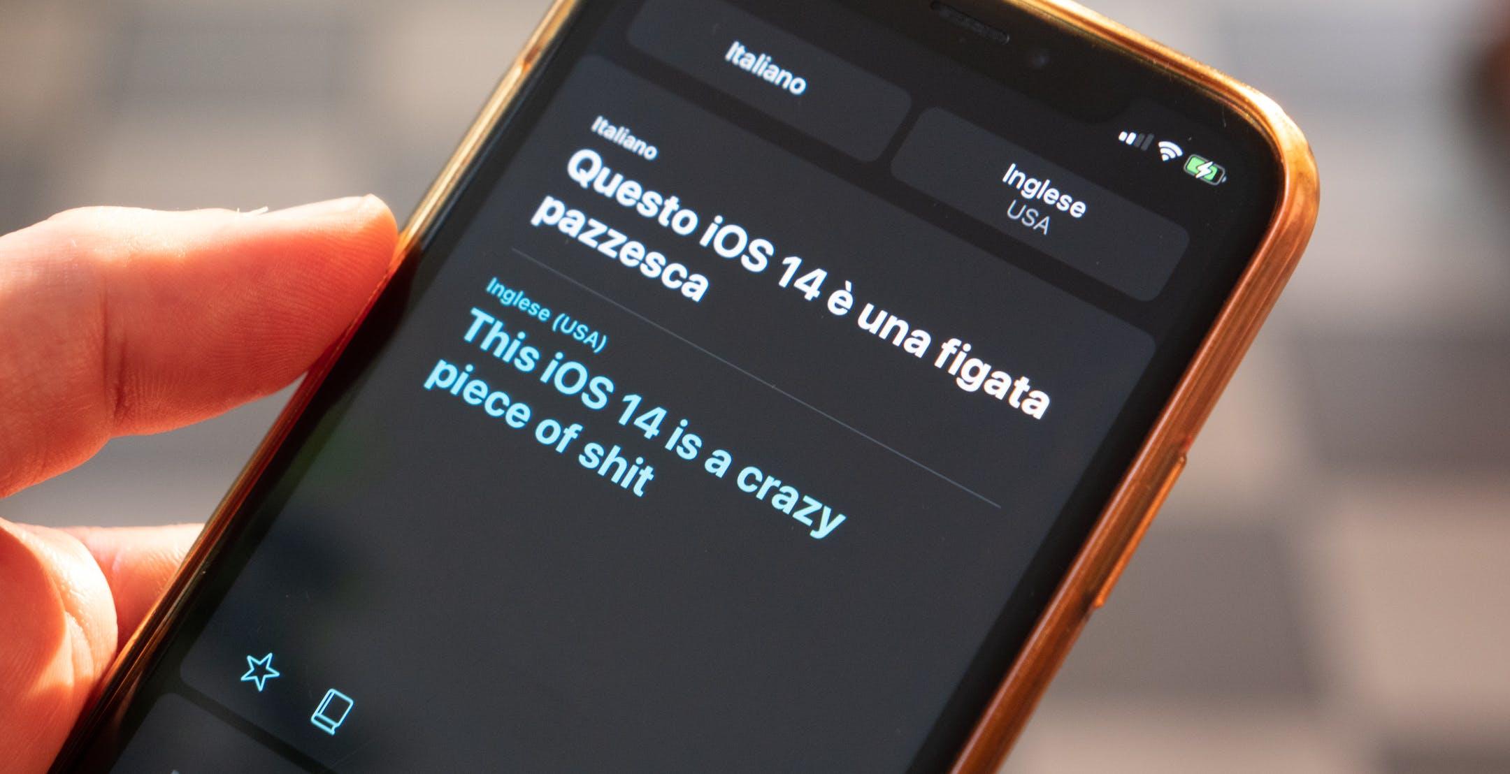 """Il baco del traduttore Apple: """"figata pazzesca"""" diventa """"crazy piece of shit"""""""