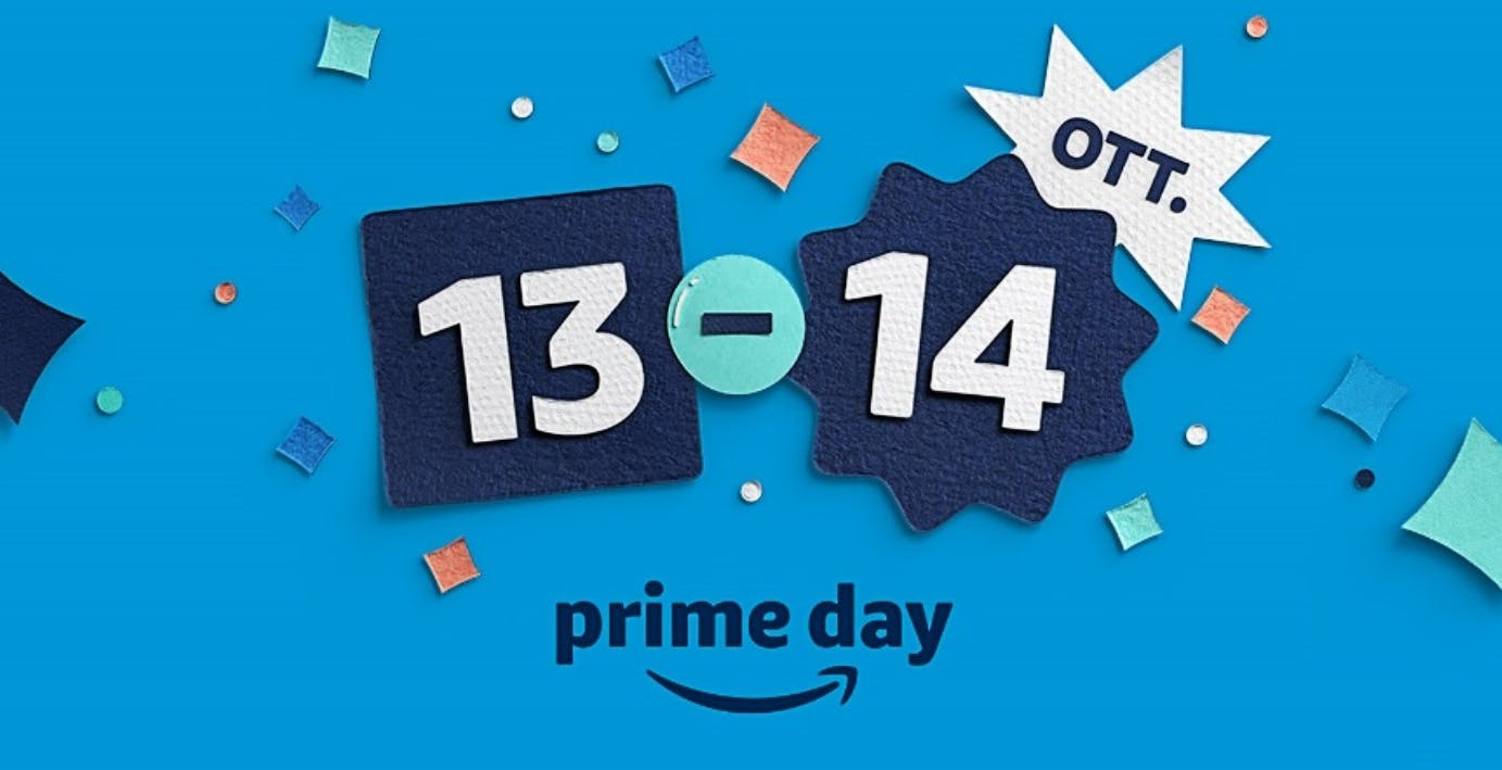 Amazon Prime Day 2020 sarà il 13 e 14 ottobre. Tante offerte partono però da oggi