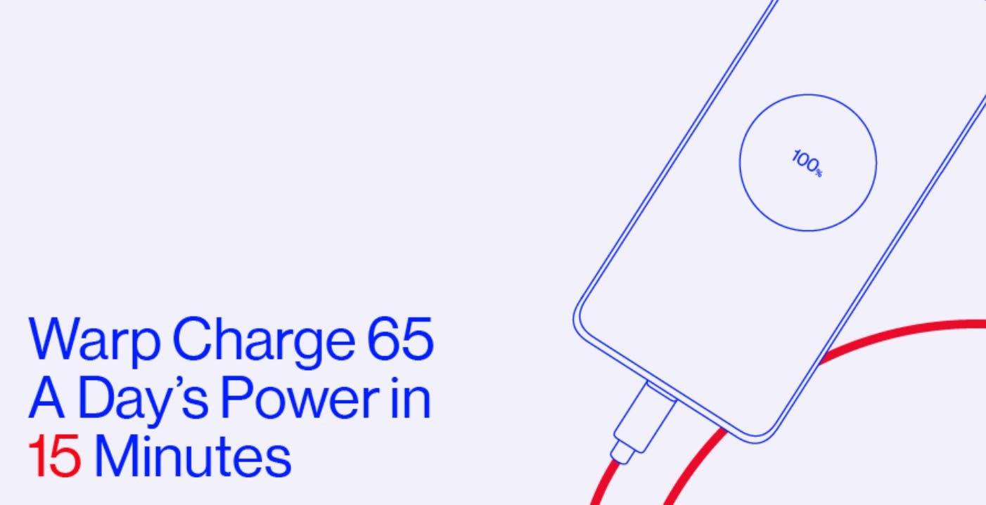 Ricarica a 65 W per OnePlus 8T: in 15 minuti carica il 58%