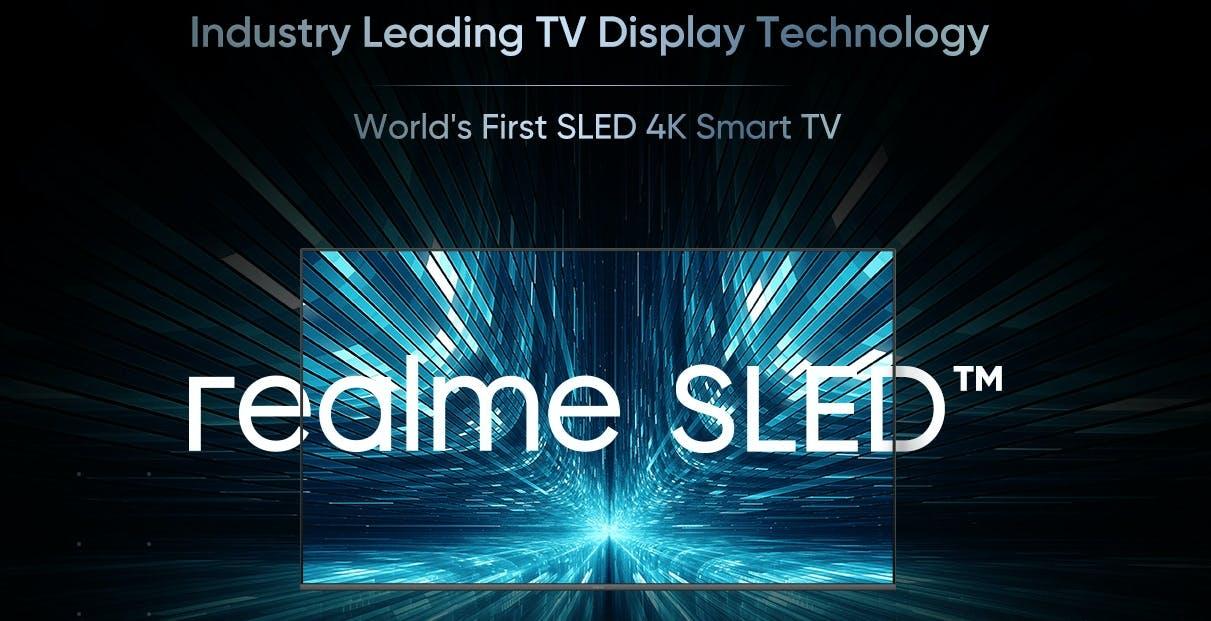 Realme annuncia il primo TV SLED al mondo, ma il LED RGB Triluminous, Sony lo lanciò nel lontano 2004