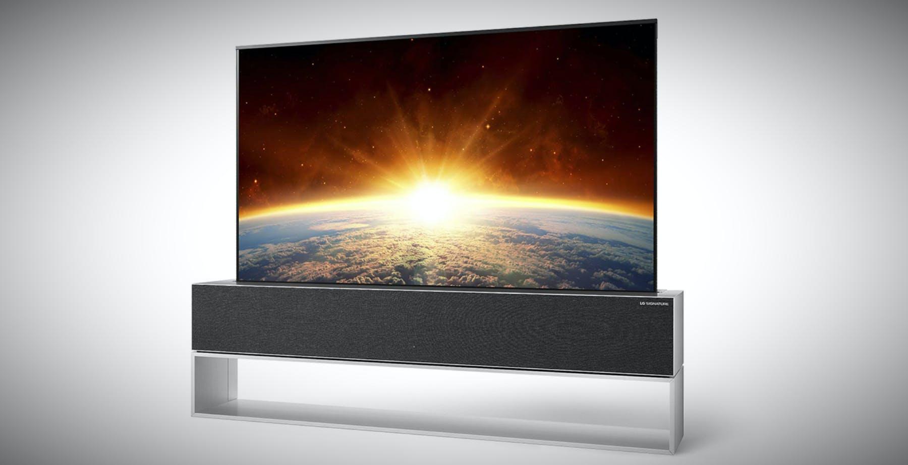 """L'OLED 65"""" arrotolabile di LG si può preordinare in Corea a 75.000 euro"""