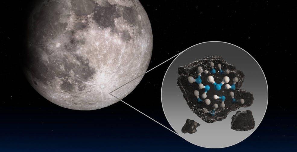 La NASA ha scoperto acqua sulla superficie della Luna che resiste anche alla luce del sole