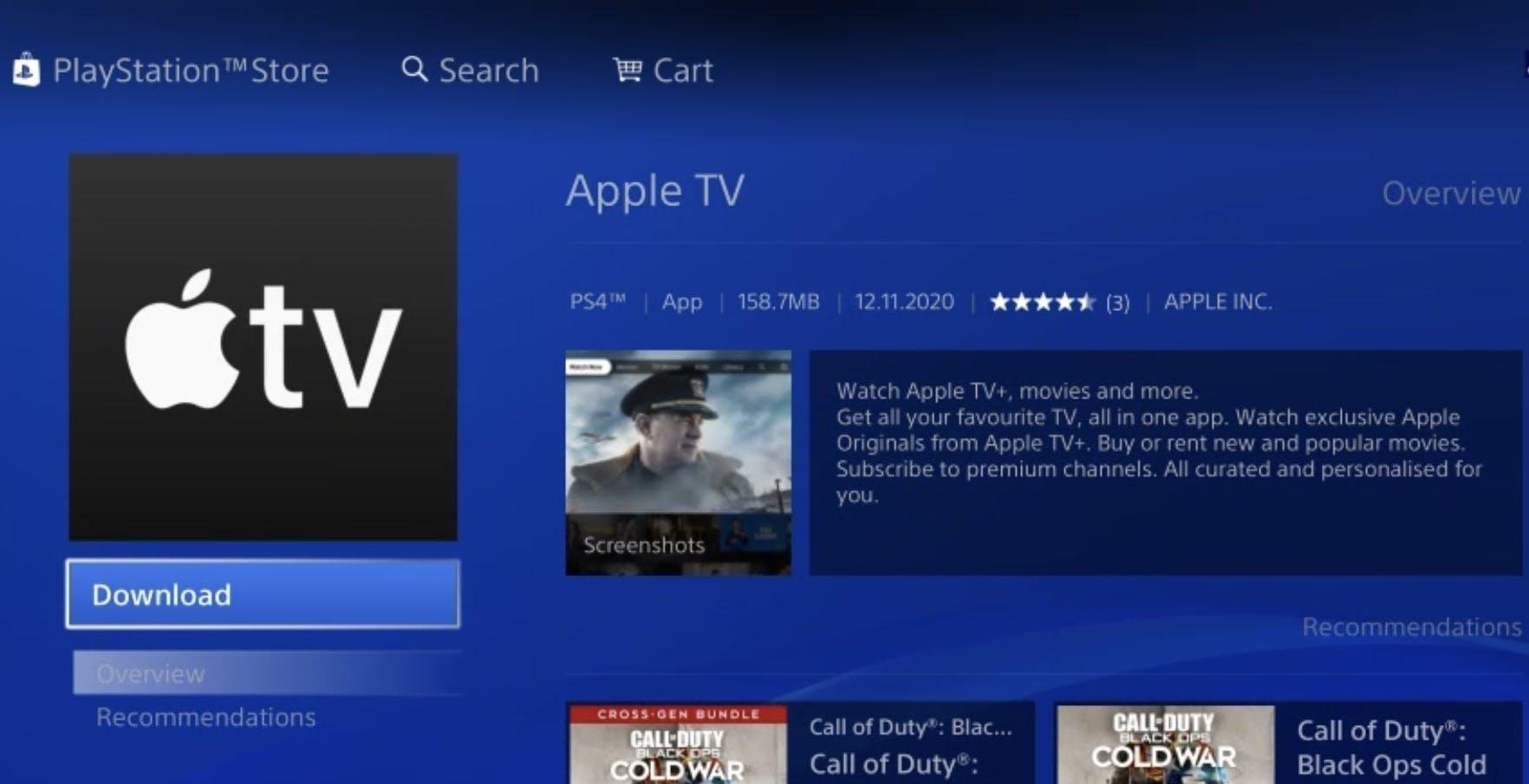 AppleTV sbarca anche su PlayStation. È possibile scaricarla anche da PS4