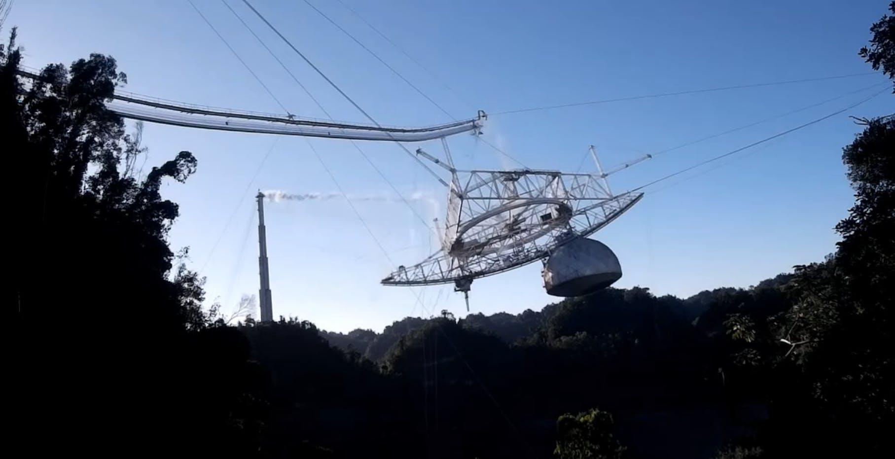 Ecco il video del collasso dell'Osservatorio di Arecibo