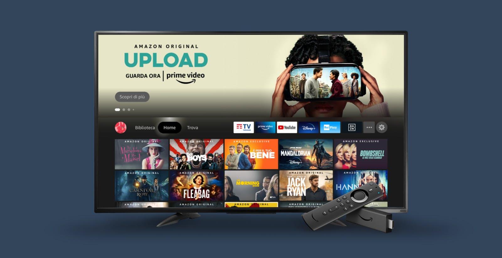 Rinnovata l'interfaccia di Fire TV: profili personalizzati e funzioni di ricerca avanzata