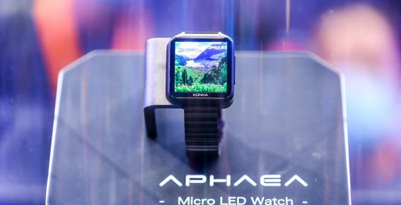 Konka ha mostrato il primo smartwatch al mondo con display Micro LED da 2 pollici