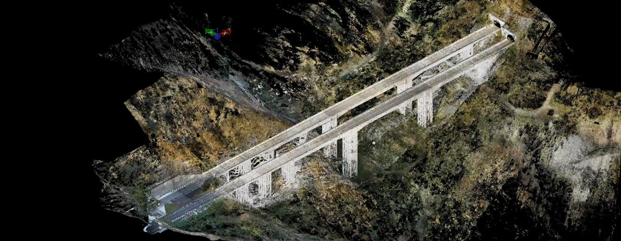 Scansione 3D, droni, Lidar e sensori diffusi: così la tecnologia ora rende più sicuri i viadotti autostradali