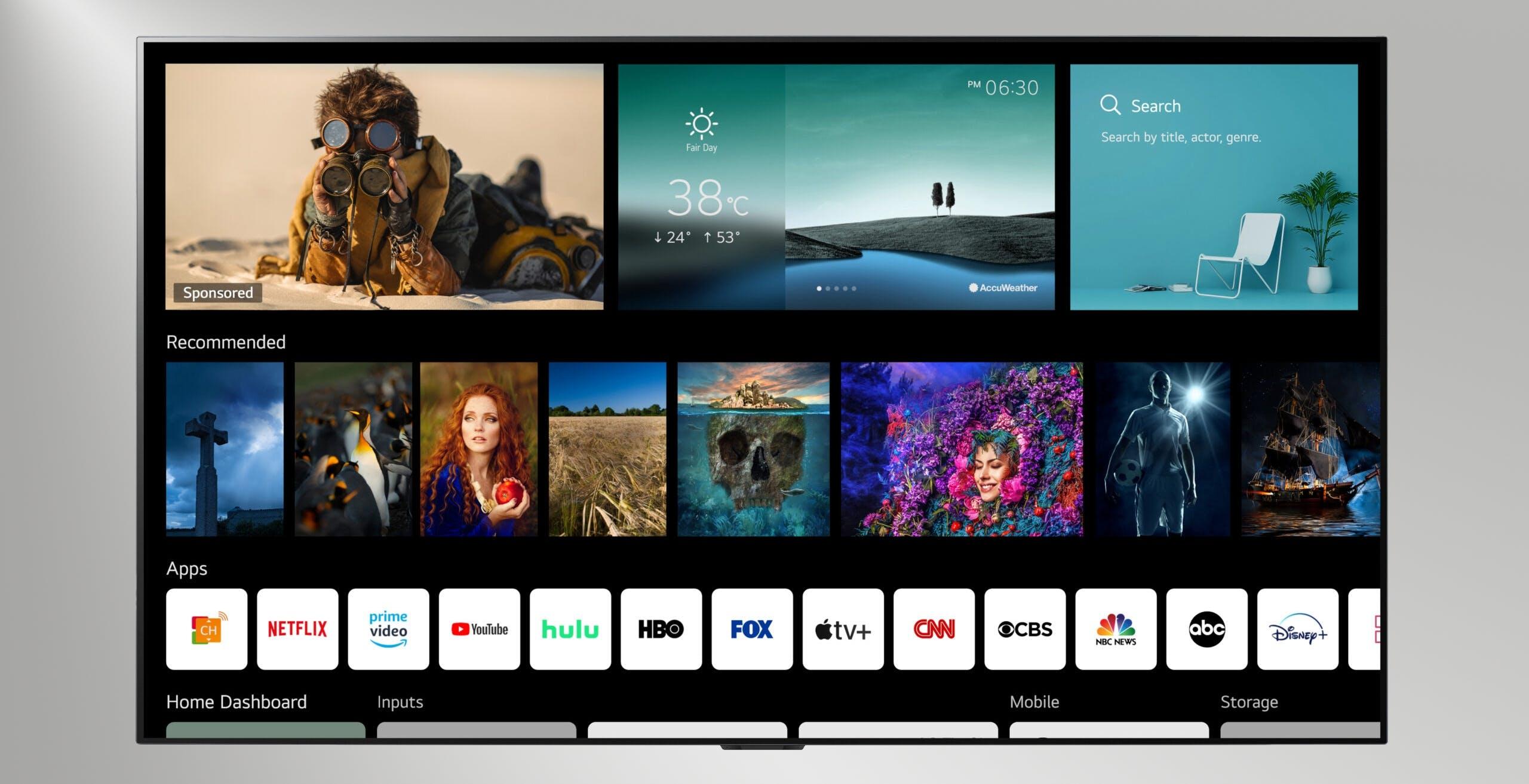 LG rivoluziona l'interfaccia delle sue Smart TV con WebOS 6. Dubbi sulla profilazione degli utenti