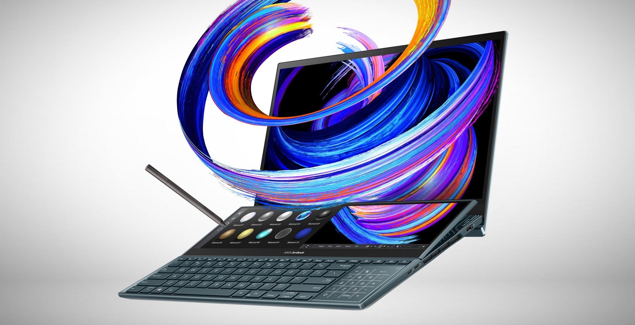 Asus sfoggia i nuovi ZenBook Pro Duo 15 OLED e ZenBook Duo 14. Autonomia fino a 17 ore