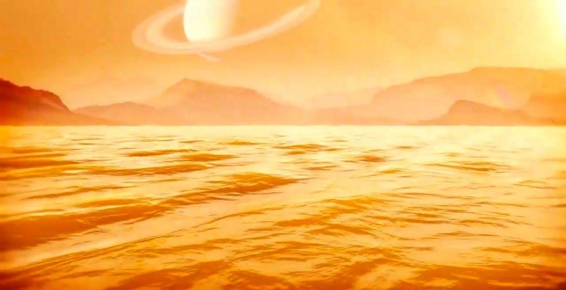 Il più grande mare di metano di Titano è profondo almeno 100 metri. Forse molto di più