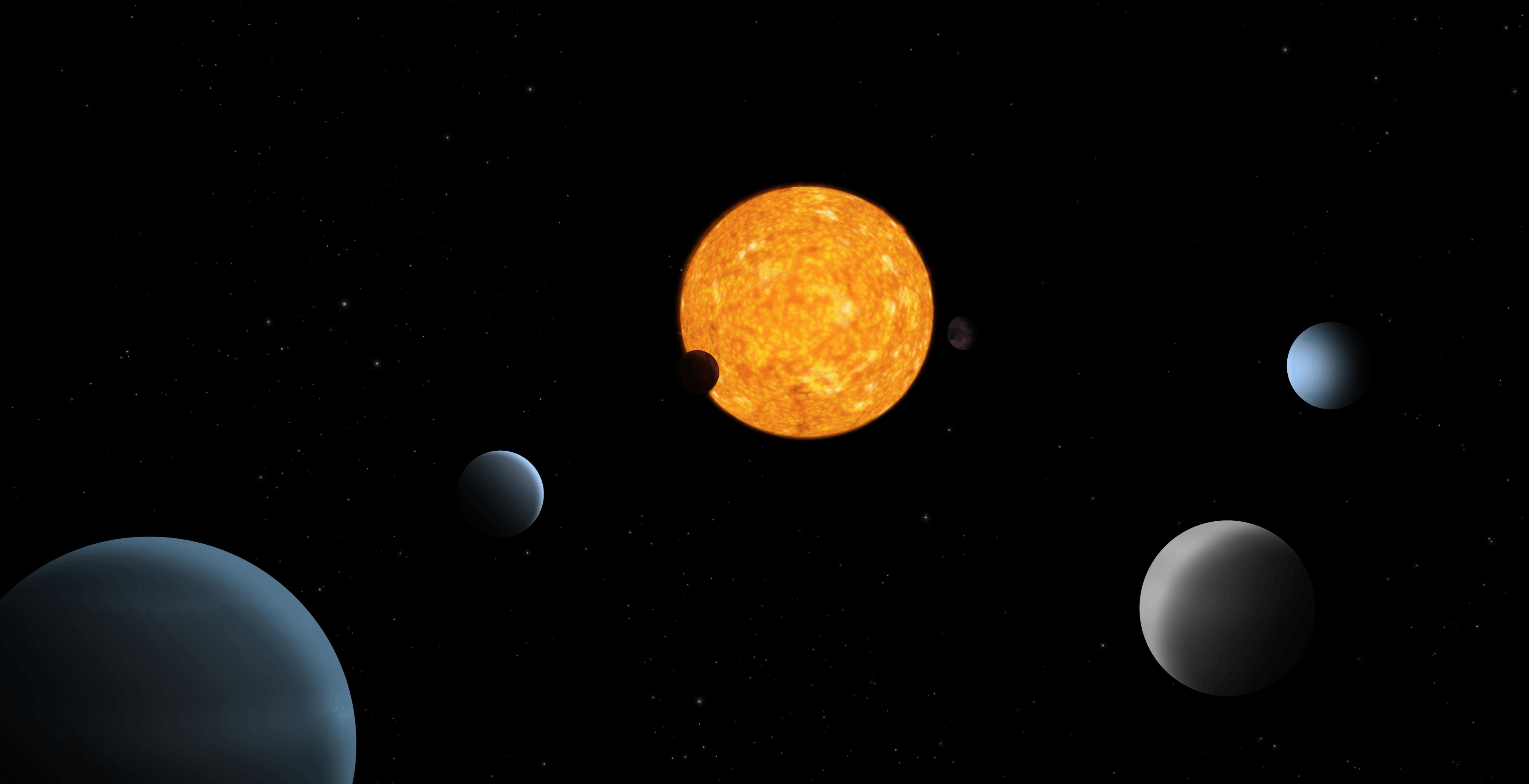Scoperto un sistema planetario con un modello di orbite mai visto prima