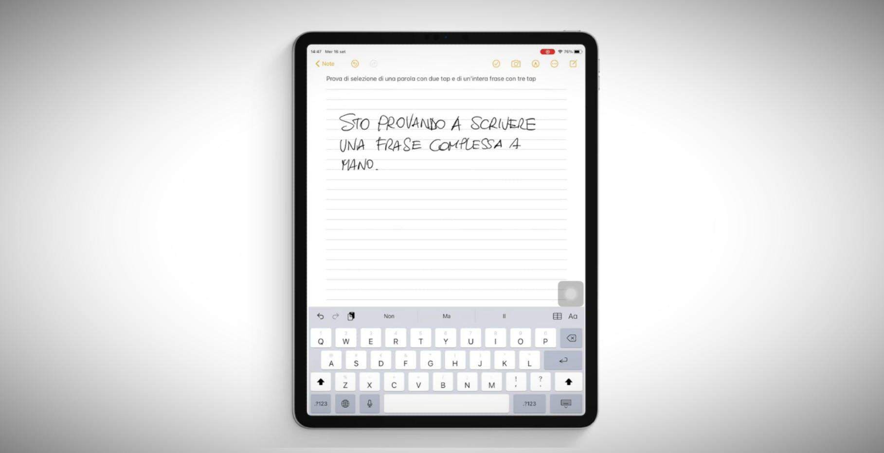 La beta di iPadOS 14.5 ha integrato le funzioni di scrittura a mano in italiano