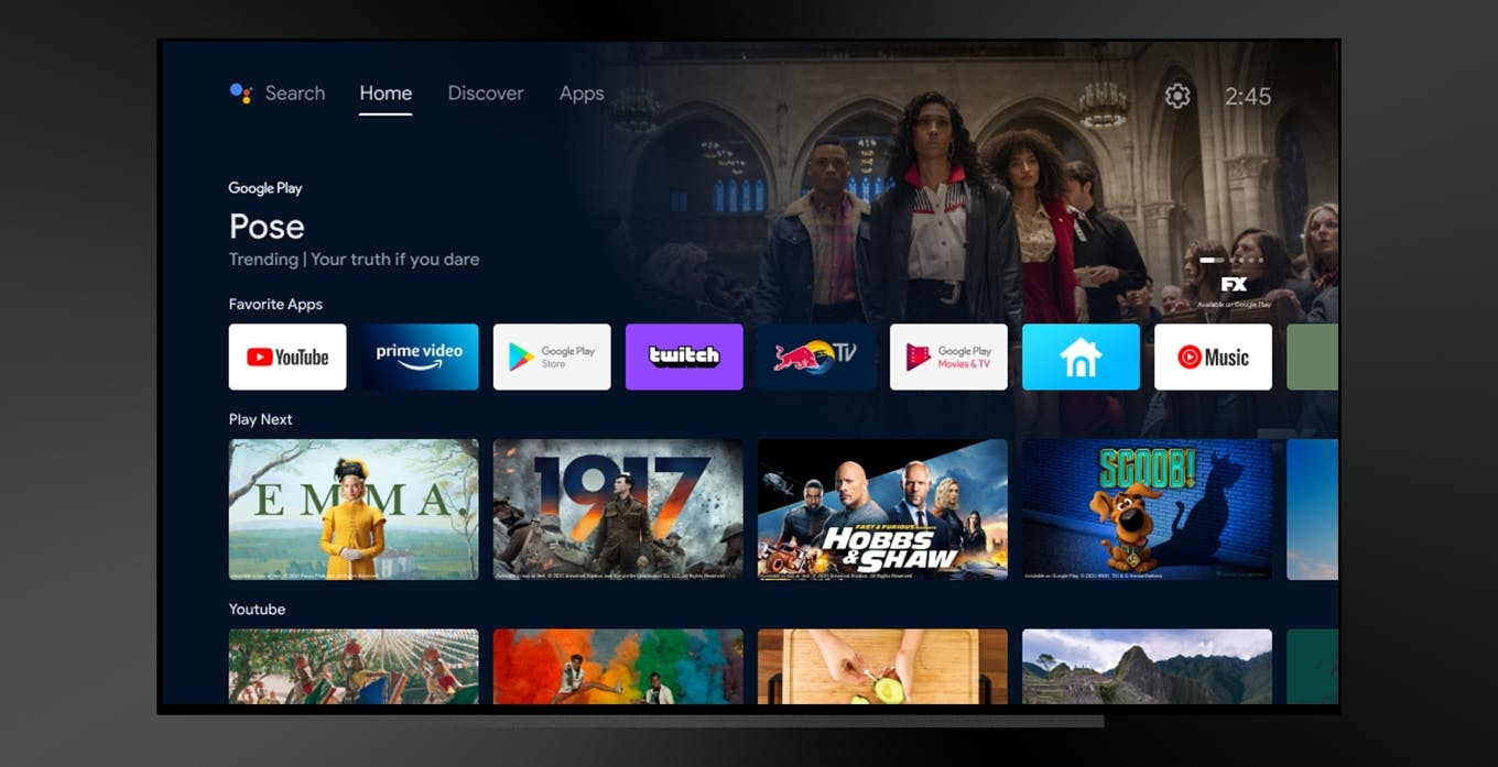 Con la nuova home screen Android TV diventa più simile a Google TV, ma non in Italia