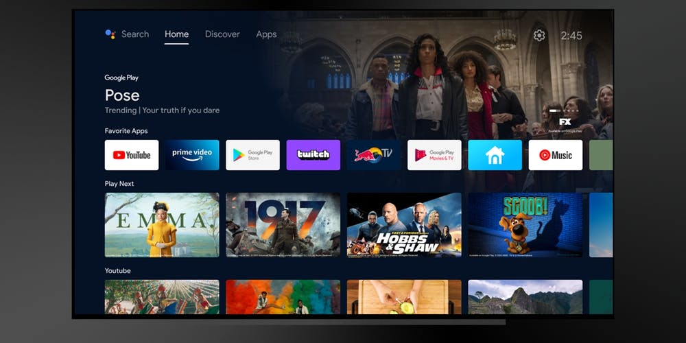 Con la nuova home screen Android TV dive …
